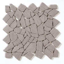 Solistone Sandstone Irregular Mosaic Coffee 12 In. x 12 In. Sandstone Floor & Wall Tile-DISCONTINUED