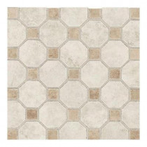 Daltile Salerno Grigio Perla 12 in. x 12 in. x 6 mm Ceramic Octagon Mosaic Floor and Wall Tile