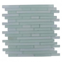 Splashback Tile Temple Tranquility 12 in. x 12 in. x 8 mm Glass Mosaic Floor and Wall Tile