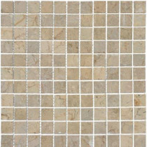 MS International Sahara Gold 12 in. x 12 in. x 10 mm Polished Marble Mesh-Mounted Mosaic Tile (10 sq. ft. / case)