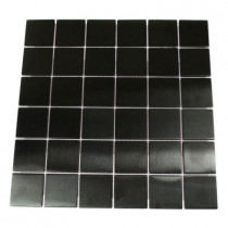 Splashback Tile Metal Nero Square 12 in. x 12 in. x 8 mm Stainless Steel Floor and Wall Tile (1 sq. ft.)-DISCONTINUED