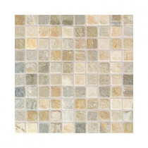 Daltile Autumn Mist 12 in. x 12 in. x 9-1/2 mm Tumbled Stone Sheet-Mounted Mosaic Floor and Wall Tile (5 sq. ft. / case)