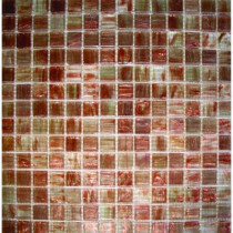 MS International Light Brown Iridescent 12 in. x 12 in. x 4 mm Glass Mesh-Mounted Mosaic Tile
