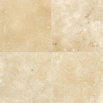Daltile Travertine Durango 16 in. x 16 in. Natural Stone Floor and Wall Tile (10.68 sq. ft. / case)