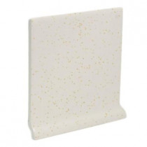 U.S. Ceramic Tile Color Collection Bright Gold Dust 4-1/4 in. x 4-1/4 in. Ceramic Stackable Left Cove Base Wall Tile-DISCONTINUED