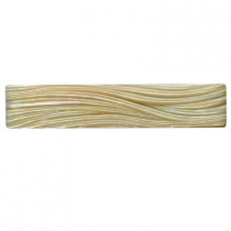 Studio E Edgewater Currents Dune 7-7/8 in. x 1-5/8 in. Glass Liner Wall Tile-DISCONTINUED