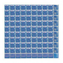 Daltile Sonterra Glass Navy Blue Iridescent 12 in. x 12 in. x 6 mm Glass Sheet Mounted Mosaic Wall Tile
