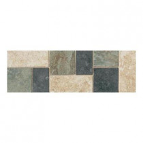 Daltile Continental Slate Multi-Colored 4 in. x 12 in. Porcelain Decorative Accent Floor and Wall Tile