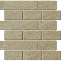 MARAZZI Terra Brazilian Slate 12 in. x 12 in. Porcelain Brick-Joint Mosaic Floor/Wall Tile-DISCONTINUED