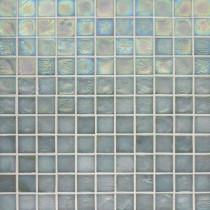 Studio E Edgewater Abalone 1 in. x 1 in. 11 3/4 in. x 11 3/4 in. Glass Floor & Wall Mosaic Tile-DISCONTINUED