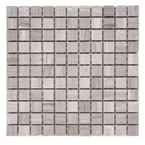 Solistone Haisa Marble Light 1 x 1 / 12 in. x 12 in. x 6.35mm Marble Mesh-Mounted Mosaic Tile (10 sq. ft. / case)