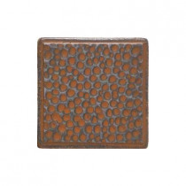 Daltile Castle Metals 2 in. x 2 in. Wrought Iron Metal Insert B Accent Wall Tile