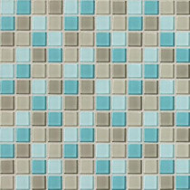 Daltile Isis Whisper Blend 12 in. x 12 in. x 3 mm Glass Mesh-Mounted Mosaic Wall Tile