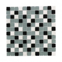 Jeffrey Court Nordic Carrara Mosaic 12 in. x 12 in. x 8 mm Glass Slate Mosaic Floor/Wall Tile