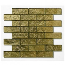 Solistone Folia Glass Golden Willow 12 in. x 12 in. x 6.35 mm Gold Glass Mesh-Mounted Mosaic Wall Tile (10 sq.ft./case)