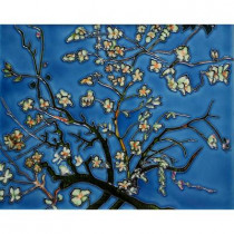 overstockArt Van Gogh, Branches of an Almond Tree in Blossom 11 in. x 14 in. Wall Tile-DISCONTINUED