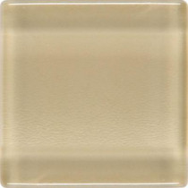 Daltile Isis Creampuff 12 in. x 12 in. x 3 mm Glass Mesh-Mounted Mosaic Wall Tile