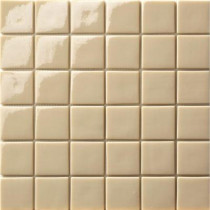 Elementz 12.5 in. x 12.5 in. Capri Beige Glossy Glass Tile-DISCONTINUED