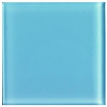 U.S. Ceramic Tile Glass Celeste 4 in. x 4 in. Unglazed Insert Wall Tile