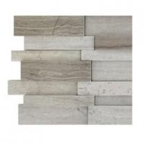Splashback Tile Dimension 3D Brick Wooden Beige Pattern - 6 in. x 6 in. Tile Sample-DISCONTINUED