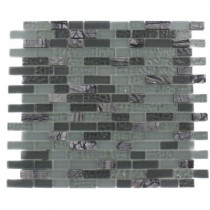 Splashback Tile Paris Rain Blend Brick Marble and Glass 12 in. x 12 in. x 8 mm Mosaic Floor and Wall Tile, Sold by the Square Foot