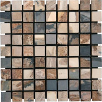 MS International Desert Trail 12 in. x 12 in. x 10 mm Tumbled Slate Mesh-Mounted Mosaic Tile (10 sq. ft. / case)