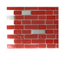 Splashback Tile Bloody Mary Brick Glass Tile Sample