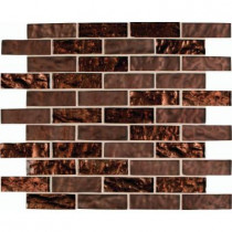 MS International Copper Leaf 12 in. x 12 in. x 8 mm Glass Mesh-Mounted Mosaic Tile