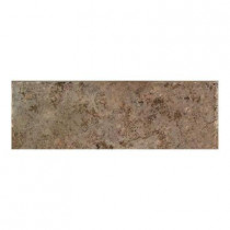 Daltile Passaggio Nocino 3 in. x 12 in. Porcelain Bullnose Floor and Wall Tile-DISCONTINUED
