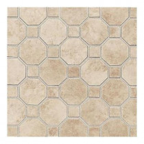 Daltile Salerno Cremona Caffe 12 in. x 12 in. x 6 mm Ceramic Mosaic Floor and Wall Tile