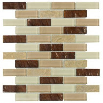 Jeffrey Court Soulful Quartz 10-3/4 in. x 12 in. x 8 mm Quartz and Glass Mosaic Wall Tile