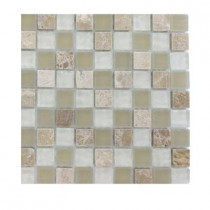 Splashback Tile Champs-Elysee Blend 1/2 in. x 1/2 in. Glass Tile Sample