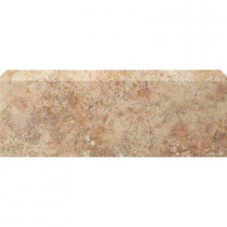 U.S. Ceramic Tile Tuscany Desert 3 in. x 13 in. Glazed Ceramic Single Bullnose Floor & Wall Tile-DISCONTINUED