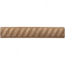 Weybridge 1 in. x 6 in. Cast Stone Rope Liner Noche Tile (16 pieces / case) - Discontinued