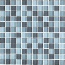 EPOCH Color Blends Gris Neblina-1600-M Matte Mosaic Glass Mesh Mounted Tile - 4 in. x 4 in. Tile Sample-DISCONTINUED