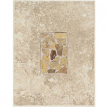 Daltile Castle De Verre Turret Beige 10 in. x 13 in. Porcelain Decorative Wall Accent Tile-DISCONTINUED