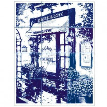 6 in. x 6 in. Ristorante Blue Tiles (12-Pieces)-DISCONTINUED