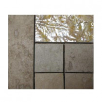 Emser Piozzi Listello 4 in. x 4 in. Porcelain Corner Mosaic Tile-DISCONTINUED