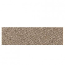 Daltile Identity Imperial Gold Fabric 4 in. x 12 in. Porcelain Bullnose Floor and Wall Tile-DISCONTINUED