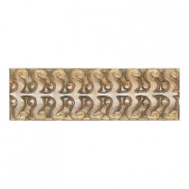 Daltile Cristallo Glass Smoky Topaz 3 in. x 8 in. Glass Perennial Accent Wall Tile