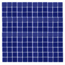 EPOCH Monoz M-Blue-1402 Mosaic Recycled Glass 12 in. x 12 in. Mesh Mounted Floor & Wall Tile (5 sq. ft.)