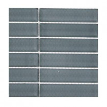 Splashback Tile Contempo Blue Gray Polished Glass Tile Sample(1 sq. ft.)