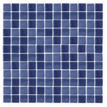 Epoch Architectural Surfaces Spongez S-Dark Blue-1411 Mosiac Recycled Glass Mesh Mounted Floor and Wall Tile - 3 in. x 3 in. Tile Sample