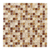 Jeffrey Court Vintage Merlot 12 in. x 12 in. x 8 mm Glass Onyx Mosaic Wall Tile