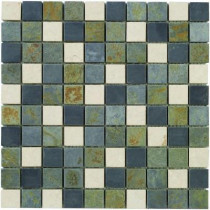 Jeffrey Court Slate Medley 12 in. x12 in. x 8 mm Travertine Slate Mosaic Floor/Wall Tile