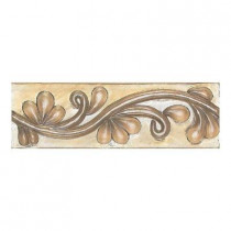 Daltile Cristallo Glass Smoky Topaz 3 in. x 8 in. Glass Vine Accent Wall Tile