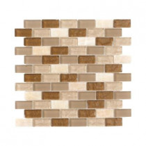 Jeffrey Court Honey Onyx Brick 12 in. x 12 in. x 8 mm Glass Onyx Mosaic Wall Tile