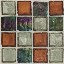 Daltile Egyptian Glass Amber Medley 12 in. x 12 in. x 6 mm Glass Face-Mounted Mosaic Wall Tile