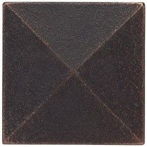 Weybridge 2 in. x 2 in. Cast Metal Pyramid Dot Dark Oil Rubbed Bronze Tile (10 pieces / case) - Discontinued