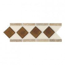 Daltile Fashion Accents Almond 4 in. x 11 in. Glass and Stone Decorative Wall Tile